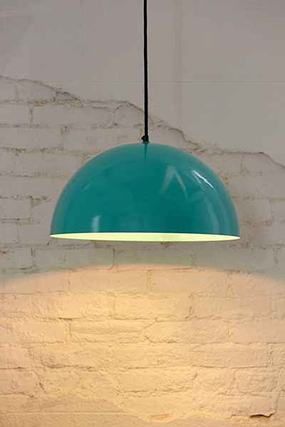 turquoise done pendant light under $250