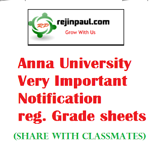 Anna university grade sheet corrections important intimation