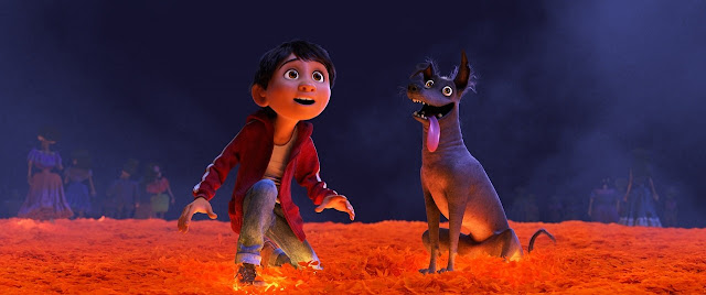 "A scene from Pixar's ""Coco"", likely Oscar winner"