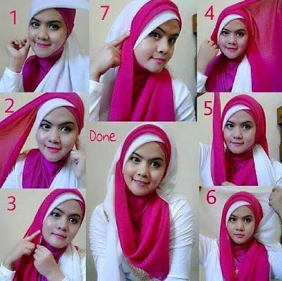 Tutorial Hijab Pengantin Segi Empat 2 Warna untuk Acara Akad Nikah dan Resepsi Pesta Pernikahan