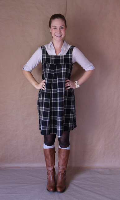 Amy Butler Tunic In Wool Plaid Palindrome Dry Goods