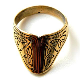 купить кольцо лучника бронзовое украшения кольца мужские