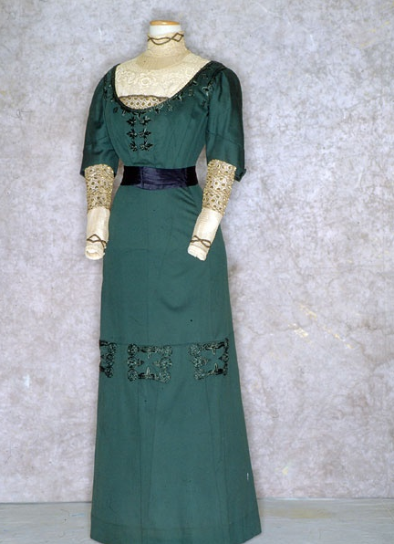 Green Edwardian day gown