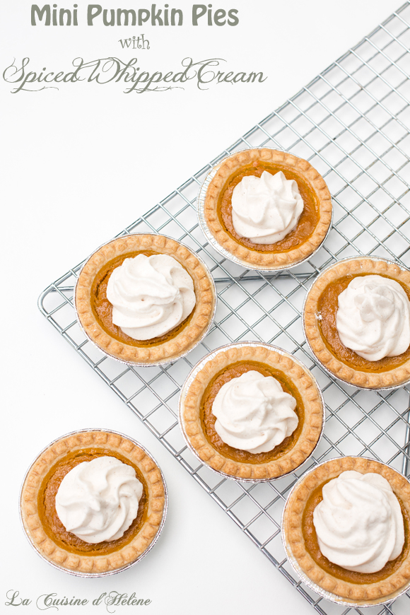 Mini Pumpkin Pies with Spiced Whipped Cream