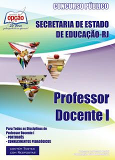 Apostila SEDUC RJ - PROFESSOR DOCENTE I - RIO