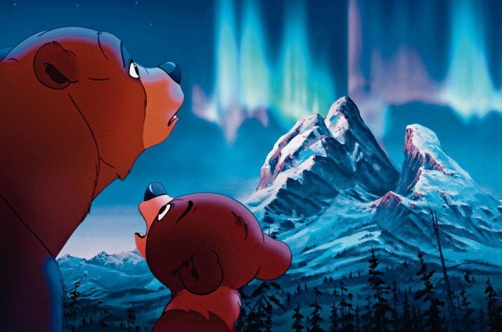 Koda, Kenai northern lights Brother Bear 2003 animatedfilmreviews.filminspector.com