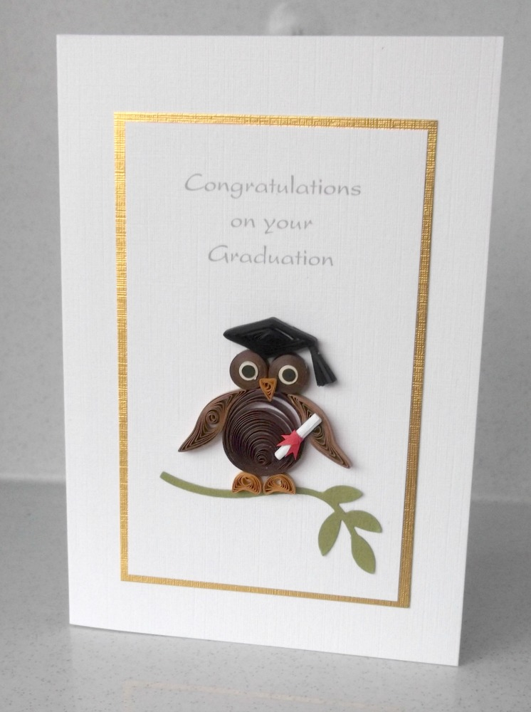 Paper Daisy Cards: Quilled Graduation Cards