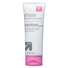sunscreen, Target Up & Up Sheer Touch SPF 30 sunscreen, sunblock