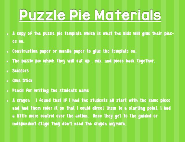math center materials