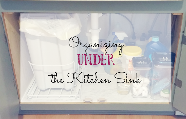 Easy ways to organize under the kitchen sink!