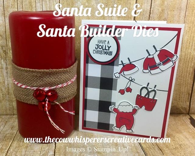 Card, Santa Suite, Santa Builder Framelits, Christmas