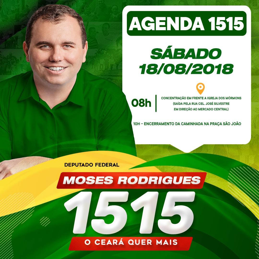 caf13bd2c765d No próximo sábado (18) o deputado federal Moses Rodrigues (MDB) lançará sua  campanha para reeleição com uma caminhada pelo Centro da cidade de Sobral.