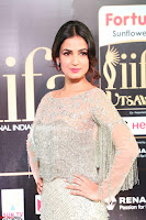 Sonal Chauhan in a stonework Floor Length Silver Designer Gown at IIFA Utsavam Awards March 2017 012.JPG