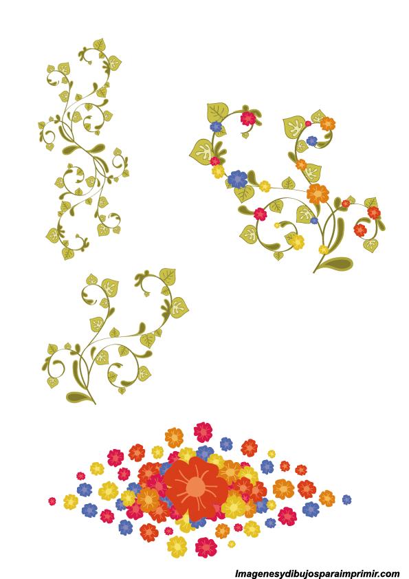Bordes de flores para decorar | Imagenes y dibujos para ...