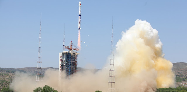 China's Long March 4B launch vehicle took to the skies on Sunday, May 29 at 11:17 p.m. EDT (3:17 GMT on Monday, May 30), on a mission to orbit the country's Ziyuan-3 No. 2 high-resolution remote sensing satellite and two commercial ÑuSat Earth-observing spacecraft for Argentina. Credit: Xinhua