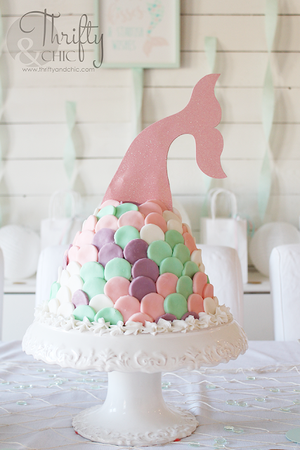 DIY mermaid birthday party and decorating ideas. DIY under the sea birthday party and decorating ideas. DIY mermaid cake, mermaid tail cake.