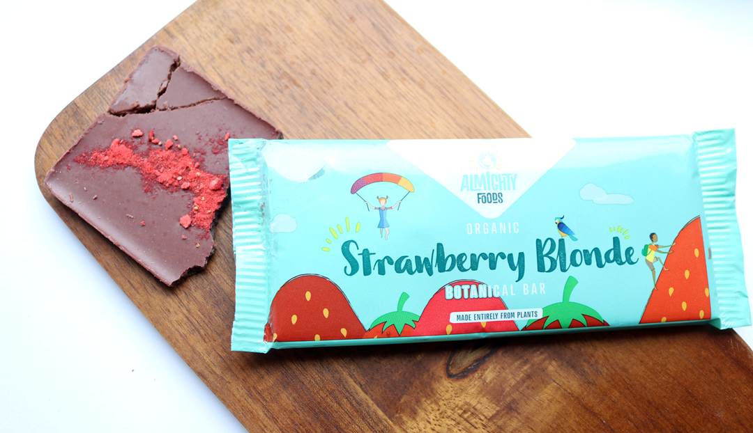 Almighty Foods Strawberry Blonde Raw Chocolate Bar