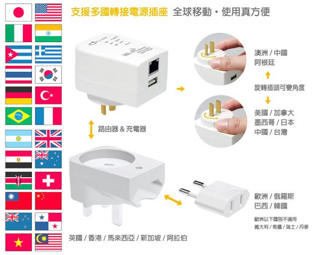 【PLUGO】多國用無線分享USB充電器 路由器 WR03