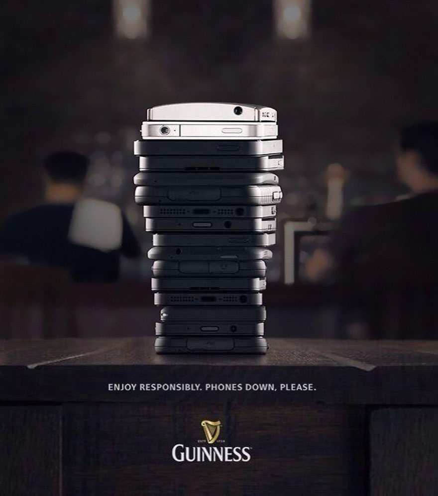 Guinness,Enjoy Responsibly phones Down,Please