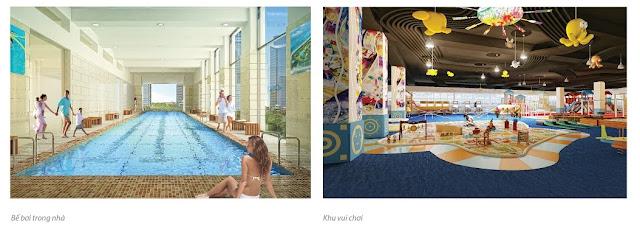 Bể bơi trong nhà cùng khu vui chơi giải trí tại dự án