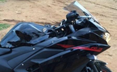 Yamaha R3 belum launching sudah jadi korban