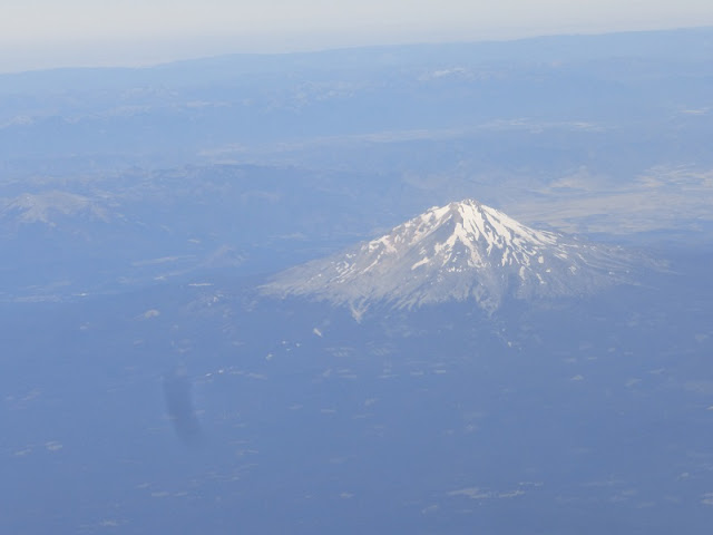 Mt. shasta from airplane