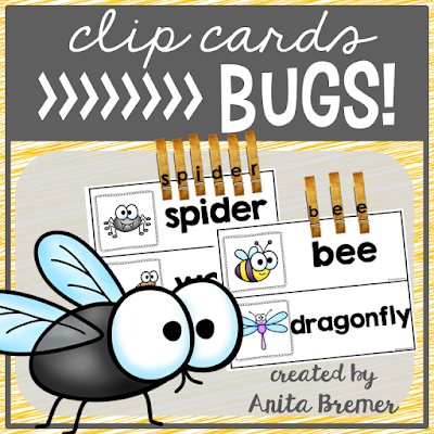 FREE word work literacy center clip cards