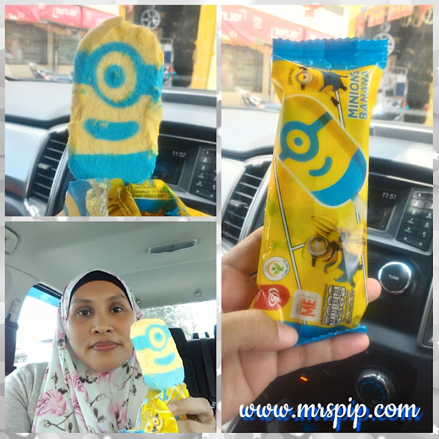 Aiskrim terbaru Walls - Minions Banana dan Asian Delight