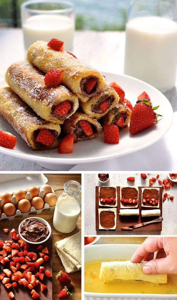 If you have a sweet tooth, if your kids are hovering around or if you generally lack self control around food, you should stop reading now. I meant it. Don't look at the photo of these Strawberry Nutella French Toast Roll Ups!