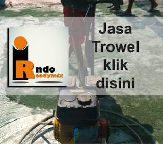 Jasa finish Trowel Floor hardener murah