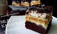 http://natomamochote.blogspot.com/2017/05/ciasto-mleczna-kanapka-z-karmelem.html