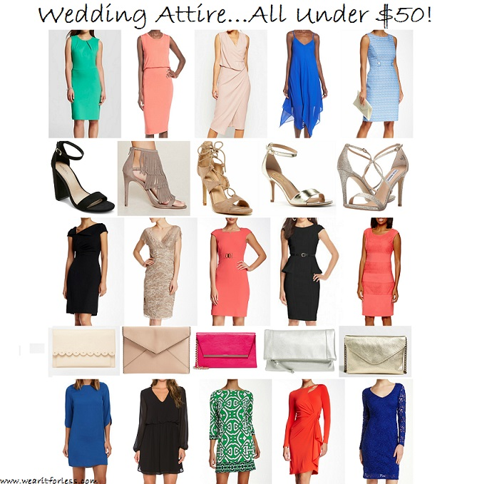 What do I wear for a spring wedding? Sales on wedding clothes, outfit ideas for a wedding