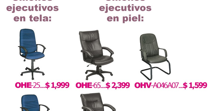 Sillas modernas ejecutivas para oficina m xico df e for Sillas de oficina modernas