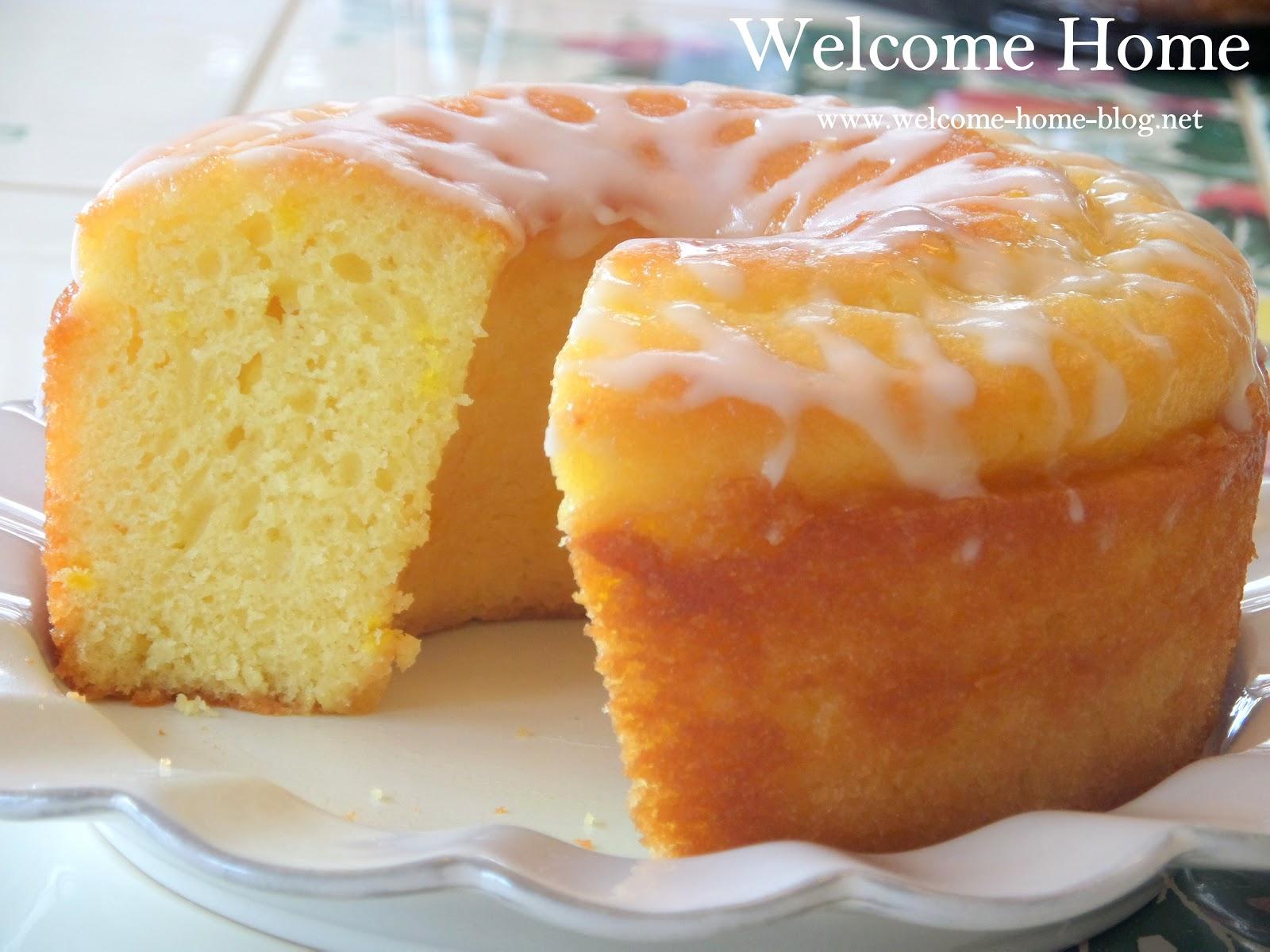Very Lemon Cake Glaze Icing Recipe