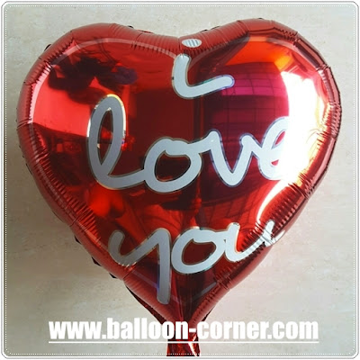 Balon Foil Hati Motif I Love You (NEW DESIGN)