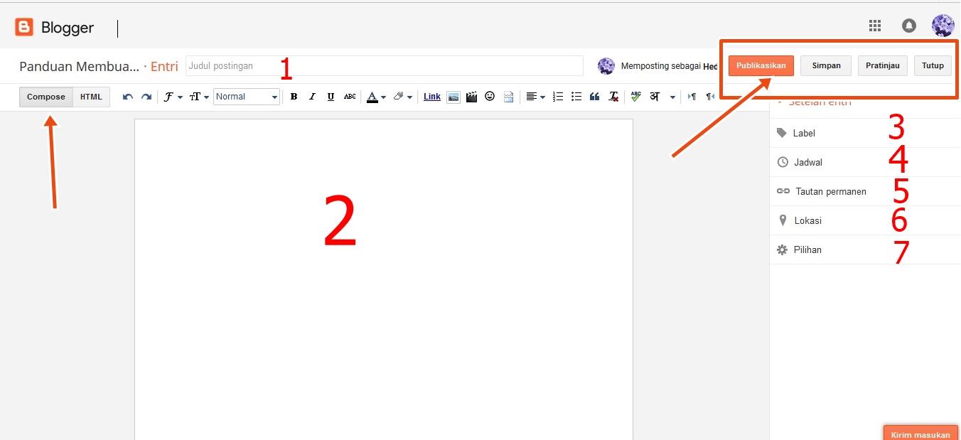 panduan cara membuat blog dan menerbitkan artikel