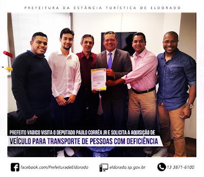 Prefeito Vadico vista o deputado Paulo Correa Jr em busca de recursos para o município