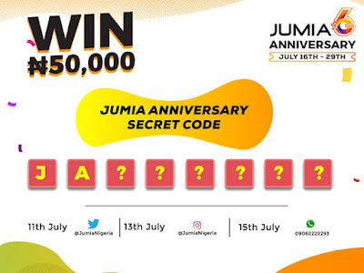 Win N50,000 In Jumia Anniversary Secret Code