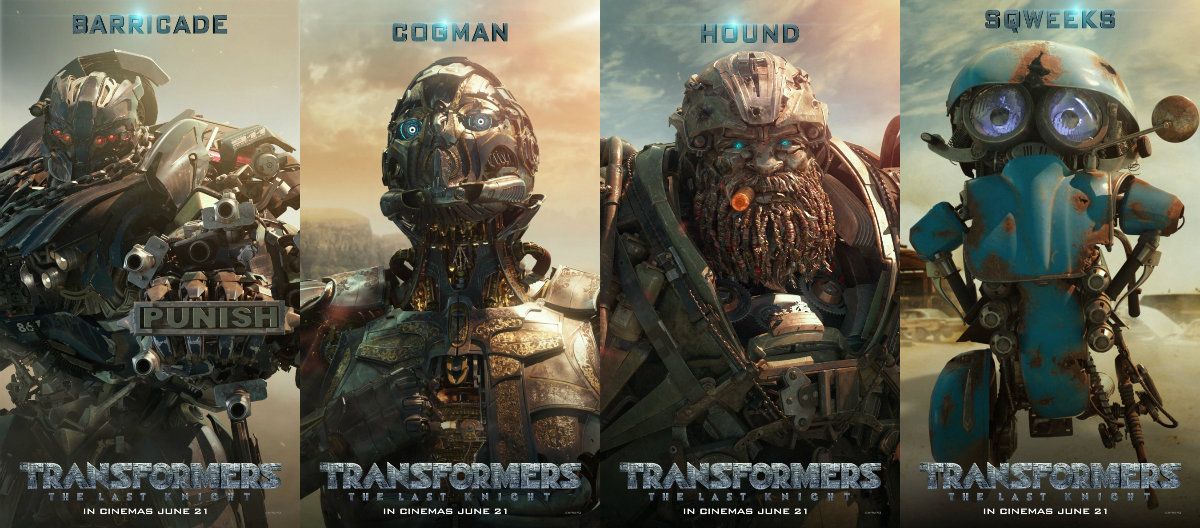 pcheng photography movies robots take spotlight in new transformers the last knight posters. Black Bedroom Furniture Sets. Home Design Ideas