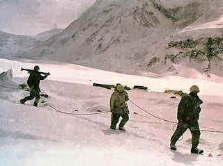 soldiers on The Siachen Glacier