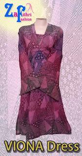 Dress Viona Motif Batik Model Terbaru Harga Grosir
