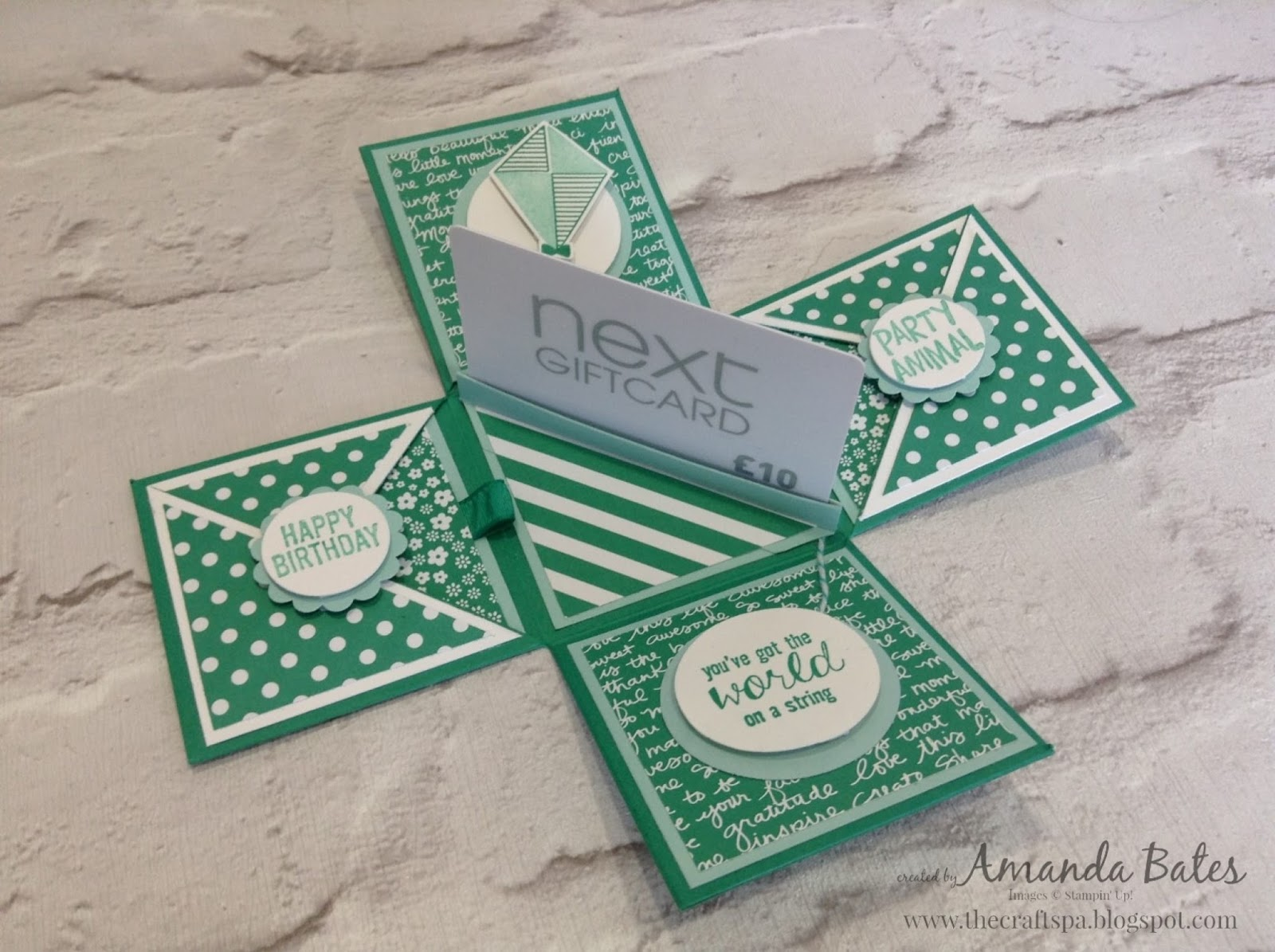 The craft spa stampin up uk independent demonstrator emerald card emerald envy 21cm square card whisper white 65cm square x4 card pool party 65cm square x3 paper 6cm square polka dots x4 script x2 solutioingenieria Gallery