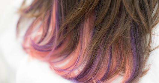 Balayage Ombre - Sakura Pink with Lavender Highlight