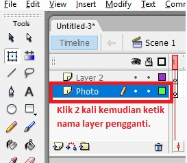 Mengganti nama layer