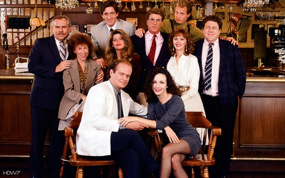 Personajes de la serie Cheers. Boston