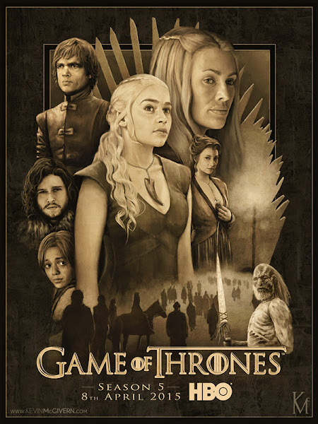 Poster of Game of Thrones Season 5 Complete 720p BluRay With ESubs Download