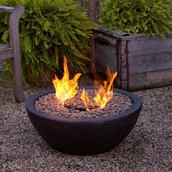 Lava Rock Propane Fire Bowl: Restoration Hardware Lava Rock Propane Fire Bowl
