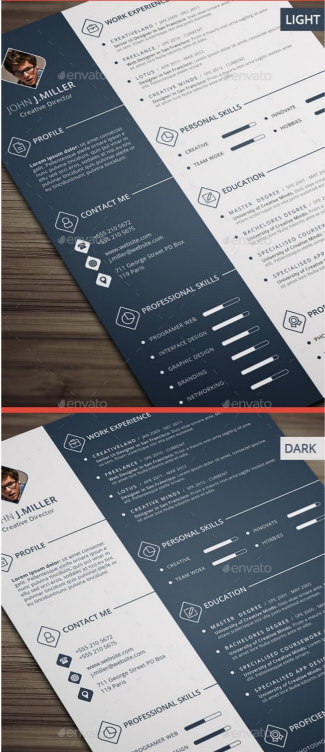 100 Indesign Resume Template 17 Free Clean Modern Cv Resume