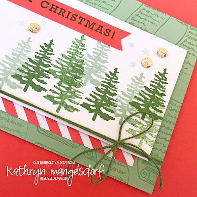 Stampin' Up! Greetings from Santa, Christmas Card created by Kathryn Mangelsdorf