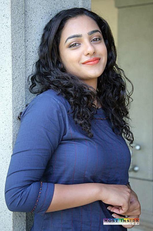 Indian Actress South Indian Actress Nithya Menen Hot Big -7816